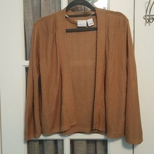 Kim Rogers Light Brown Open Front Cardigan  E142